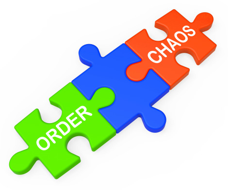 Order Chaos Showing Organized Or Unorganized Management