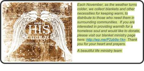 nov blanket ministry add in
