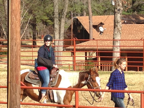 Anika's first time on a horse!